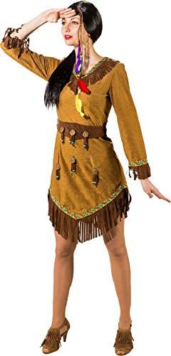 O9234-40 - Disfraz de apache, talla 40, color beige y marrón