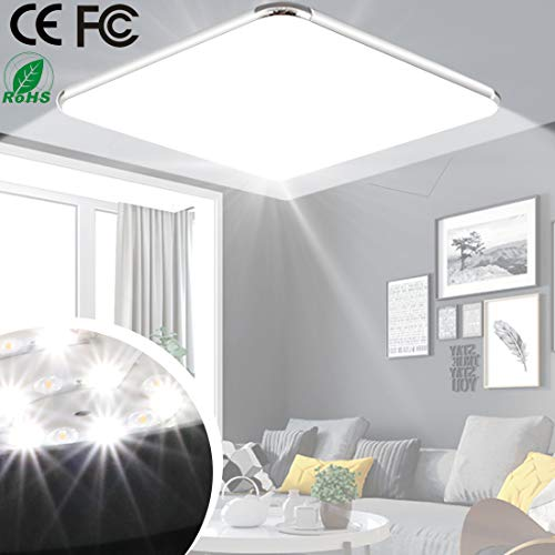 24W LED Ceiling Light 17.7inch 1600LM 6500K Cold White Bright LED Lamp for Bathroom Living Room Kitchen Office Hall Hotels