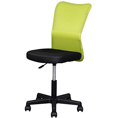 アイリスプラザ オフィスチェア デスクチェア メッシュ 通気性抜群 腰サポートバー 無段階昇降 360度回転 コンパクト H-298F グリーン