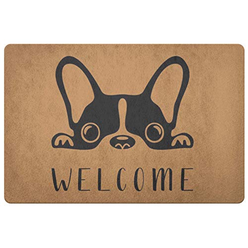 Sobilar French Bulldog - Frenchie Bull Dog - Welcome Mat - Coir Door Mat - Doormat - Housewarming Gift - Shipping Included
