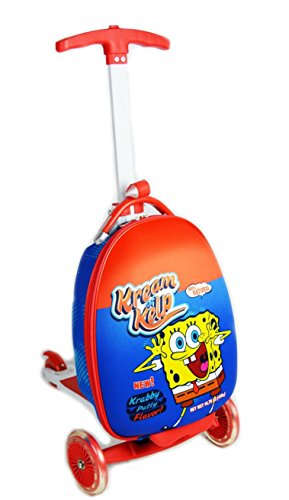 Smiley 16 Inch Scootie Ride-on Luggage by ATM Luggage (One Size, Krabby Krispies)