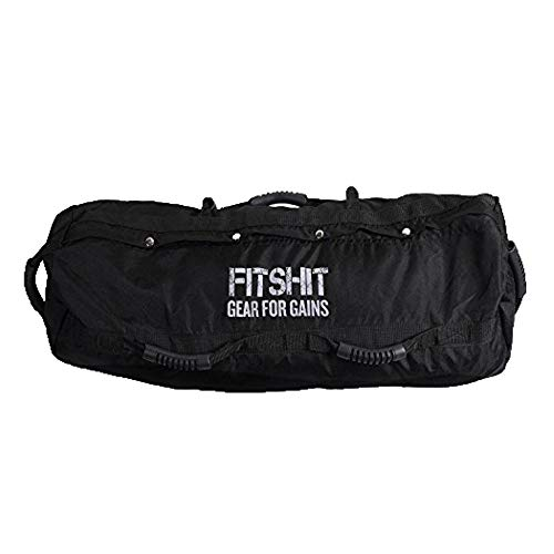 FITSHIT Sandbag for Training Workouts - 50lb -110lbs Heavy Duty - Durable Functional Fitness Weighted Sandbags … (Black, Medium (25-65lb))