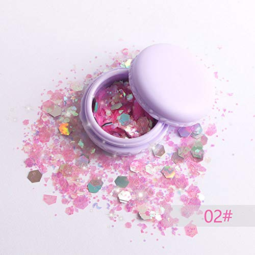 Maritown Chunky Glitter For Body, Face, Hair and Nails Art, Glitter Sequins Shining Flakes for Party Makeup Stage Makeup