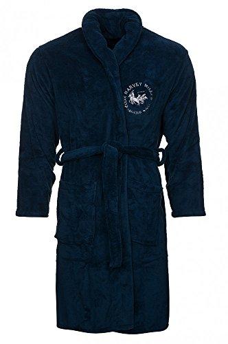 Harvey Miller Polo Club Saunamantel Herren Bademantel HRM1876 verschiedene Farben, XL, Navy