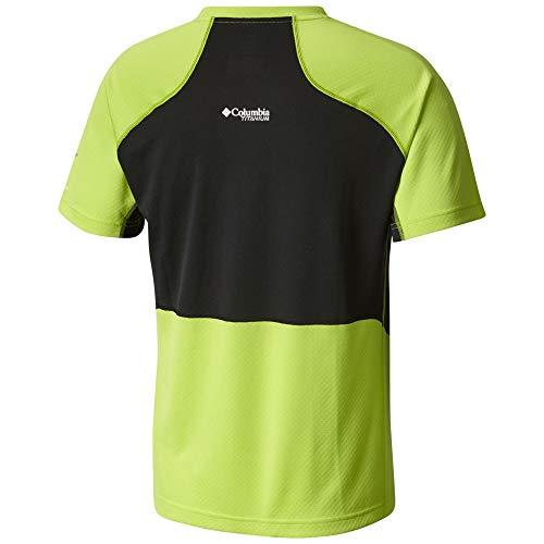 Columbia Titan Trail Short Sleeve Shirt - Men's Fission/Black, XXL