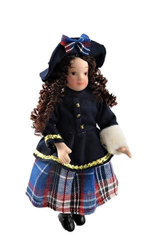 Melody Jane Puppenhaus Viktorianisch Kleines Mädchen in Winter Outfit 1:12 Maßstab Porzellan Menschen