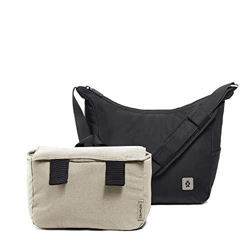 Crumpler Triple A Camera Hobo - Female Bag for Travel, Camera DSLR, Mirrorless, Laptops, Bridge, CSC, Lenses and Travel Gear - TRA-CHOB-0-01-001 - Black