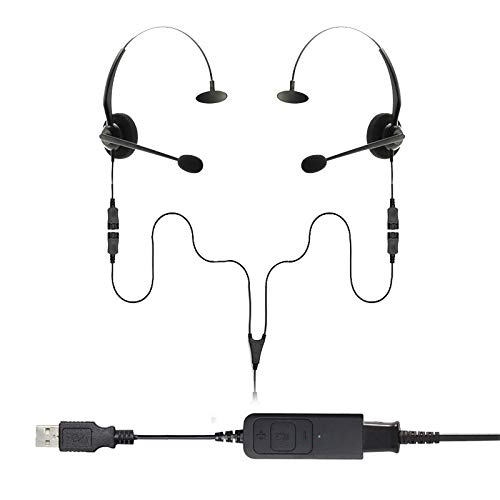 Project Telecom Monaural USB Training, Supervising and Coaching Headset Bundle 2 Users | Compatible With Acer Nitro