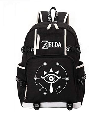 GO2COSY Leuchtender Rucksack The Legend of Zelda, Tagesrucksack, Schulranzen, Büchertasche , schwarz 1 (Schwarz) - GO2COSY1