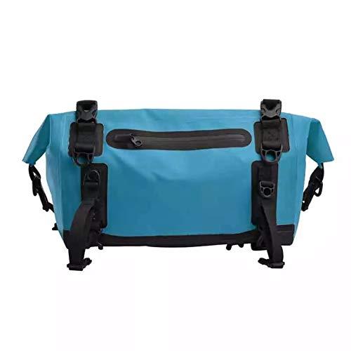 AIHOUSE Alforjas para Bicicletas Impermeable 15L Capacidad Bolsa de Bicicleta de Doble Propósito con Tiras Reflectantes para Ciclismo de Viaje Al Aire Libre,Azul