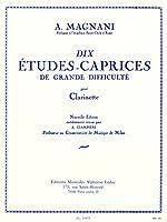 マニャーニ: 上級者のための10のエチュード・カプリス/ルデュック社/クラリネット教本・練習曲