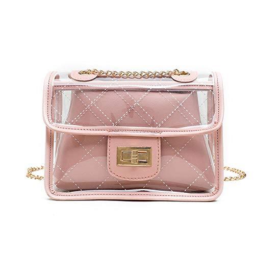 Reisen & FreizeitDamen Schulter Messenger Bag Pu Kette Small Square Bag Einfach Und Vielseitig, 21 * 25 * 10Cm@PinkMultifunktional
