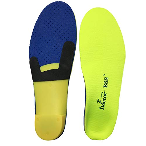 Orthotic Insole for Arch Plantar Fasciitis, Heel Pain, Hip & Joint Pain, Back Pain | Improves Daily Activites While Running, Walking, and Working (8-10 US Womens/ 6-8 US Mens)