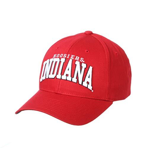 NCAA Indiana Hoosiers Mens Broadway Cotton Hat, Primary Team Color, Adjustable