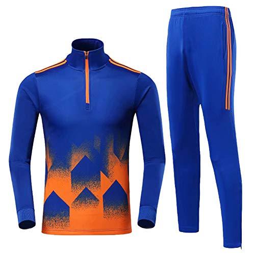 Heren voetbal trainingspakken, plus fluwelen voetbal kleding pak mannen grote kinderen hardlopen Fitness training sneldrogende broek