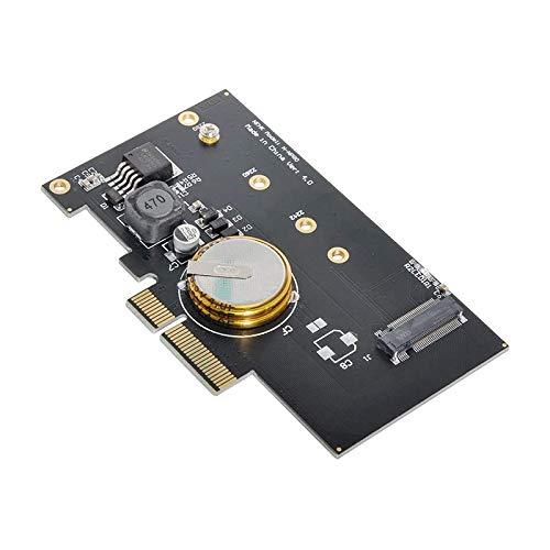 RETYLY PCI-E 3.0 X4 una M.2 NGFF M Key SSD Adaptador de Tarjeta Nvme PCI Express con 4.0F Super Capacitor ProteccióN contra Fallas de EnergíA