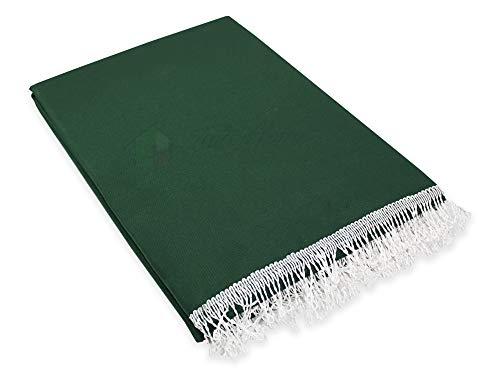 Tenda da Sole da Esterno per Balcone in Tessuto Resistente Misura cm 140x300 in 100% Poliestere con Anelli Dis. 5 Verde
