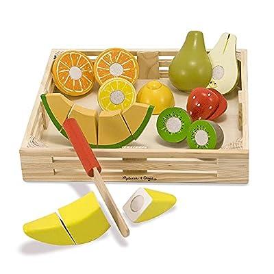 Melissa & Doug Cutting Fruit Set - Wooden Play Food Kitchen Accessory from Melissa & Doug