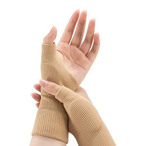 Handgelenkbandage Daumenbandage, Handbandage Handgelenkstütze Handgelenkabdeckung Handgelenkkompressionswickel mit Schmerzlinderung Sportverstauchungskompression Handgelenkstraining (L-Teint)