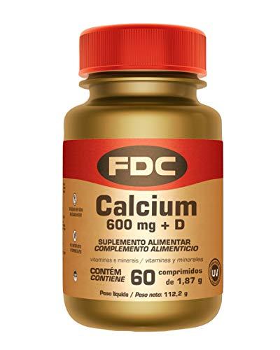 Calcio 600 mg + Vitamina D para Fortalecer los Huesos y Músculos, 60 Cápsulas de FDC