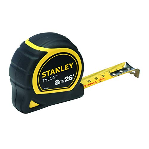 Stanley STA130656N Pocket Tape, Dual Scale, 8m Length x 25mm Width