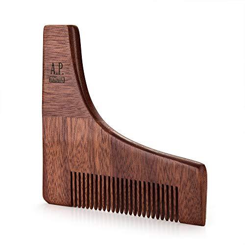 A.P. Donovan - Peigne Pochoir à barbe   coiffage de barbe   pochoir à raser   rasoir pour hommes   pochoirs à barbe avec peigne à barbe