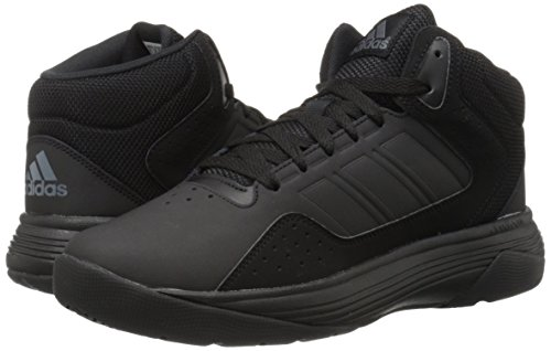 adidas NEO Men's Cloudfoam Ilation Mid Basketball Shoe, Black/Black/Onix, 7.5 M US