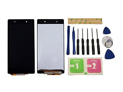 Flügel für Sony Xperia Z2 L50W D6502 D6503 Display LCD Ersatzdisplay Schwarz Touchscreen Digitizer Bildschirm Glas Assembly (ohne Rahmen) Ersatzteile & Werkzeuge & Kleber
