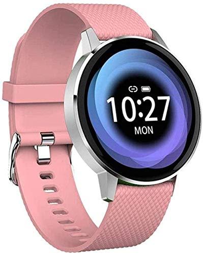 JSL Reloj de fitness Reloj inteligente para mujer, Bluetooth, impermeable, ritmo cardíaco, presión arterial, oxígeno en la sangre, ejercicio de salud