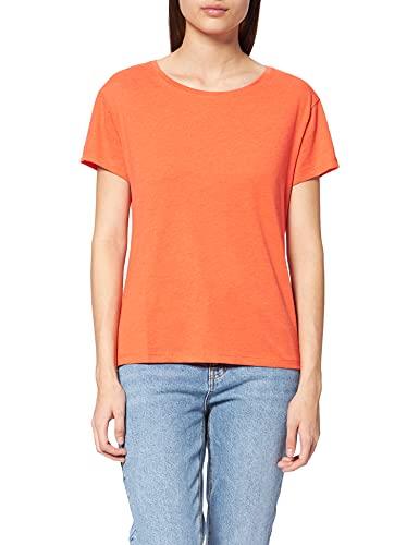 O'NEILL Essential Roundneck Shortsleeve T-Shirt, Casual Logo Rundhalsshirt Camiseta, Cherry Tomato, XS-XL para Mujer