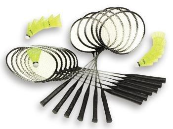 Unbekannt Betzold Sport Badminton-Set Alu-Line Schulset - Federball Badminton-Schläger