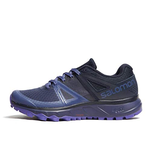 Salomon Women's Trailster Trail Running Shoes, Crown Blue/Navy Blazer/Purple Opulence, 8