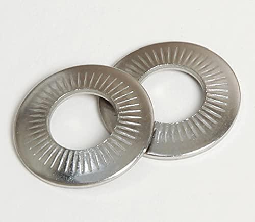 Kontaktscheiben, gezahnt, u.a. als Erdungsverschraubung, Edelstahl V2A, A2 Aisi 304, 50 Stück pro Verpackungseinheit (M3-3,1 x 8 mm)