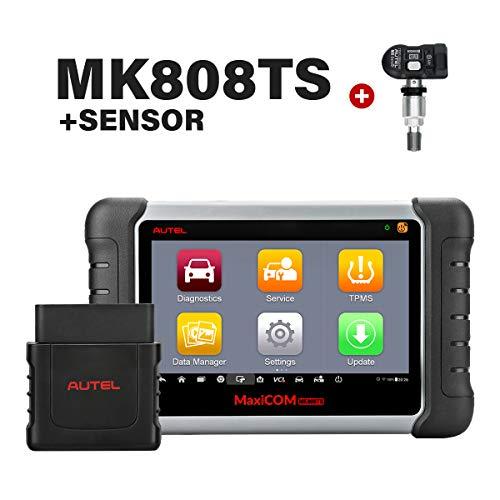 Review Autel MK808TS MaxiCOM OBD2 Diagnostic Scanner with Complete TPMS Functions Bundle MX 2 in 1 (315MHz + 433MHz) TPMS Sensor