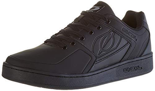 O'NEAL | Mountainbike-Schuhe | MTB Downhill Freeride | Vegan | Gleichgewicht zwischen Grip und Fußrepositionierung, Waben-Sohlenstruktur | Pinned Flat Pedal Shoe | Erwachsene | Schwarz | Größe 45
