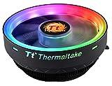 Thermaltake UX100 5V Motherboard ARGB Sync 16.8 Million Colors 15 Addressable LED Intel/AMD Universal Socket (LGA 1200) Hydraulic Bearing 65W CPU Cooler CL-P064-AL12SW-A