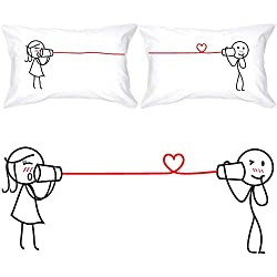 matching couple pillowcases