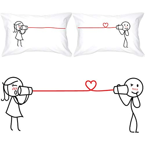 BOLDLOFT Say I Love You Too Couples Pillowcases (King Size)- Matching...