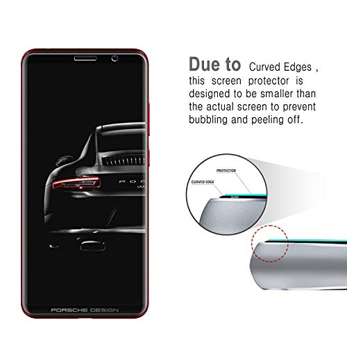 2PacK Huawei Porsche Design Mate RS Screen Protector, VIKEE HD Clear [Anti-Fingerprint][Bubble-Free][Easy to install] 9H Hardness Tempered Glass Screen Protector Film For Huawei Porsche Design Mate RS