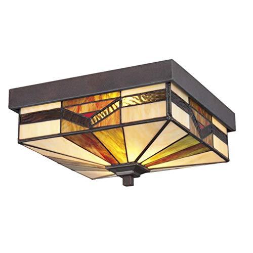 Plafondlamp in Tiffany-stijl, wandlampen en wandlamp van gekleurd glas, hoofdlamp voor slaapkamer, hal, plafond, accessoires