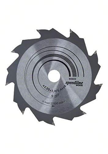 Bosch Professional Zubehör 2608640774 Kreissägeblatt Speedline Wood 130 x 16 x 2,2 mm, 9