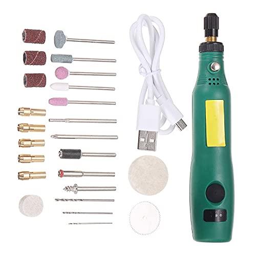 Ajustar la velocidad Mini taladro eléctrico pulido Jade Core tallar máquina de molienda Kit de herramientas para madera manicura talla