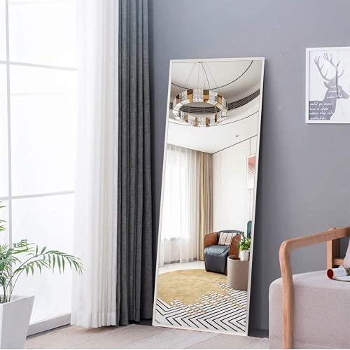 Aroya 姿見 全身鏡 立て掛け 3way スタンドミラー 壁掛け 約159*49cm 四色選択 薄型アルミフレーム ウォールミラー 大きい おしゃれ 玄関 リビングルーム 寝室 (159x49cm, ホワイト)