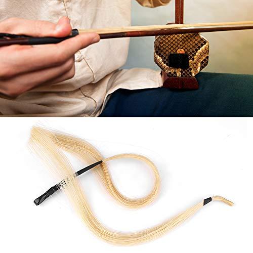 Qioni Schachtelhalm-Geigenbogenhaar, natürliches Erhu-Bogenpferdehaar, weiße Erhu-Schleifen Reparieren Sie die gebrochene Bogenbratsche, um die alte Bogenhaar-Cellovioline zu ersetzen