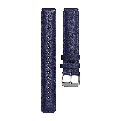 Armband für Huawei Talkband B3 Ersatz-Uhrenband, echtes Leder, Vintage-Stil, für Herren/Frauen Armbanduhr mit Edelstahlschnalle Uhrenarmband Lederarmband Ersatband (Blau)