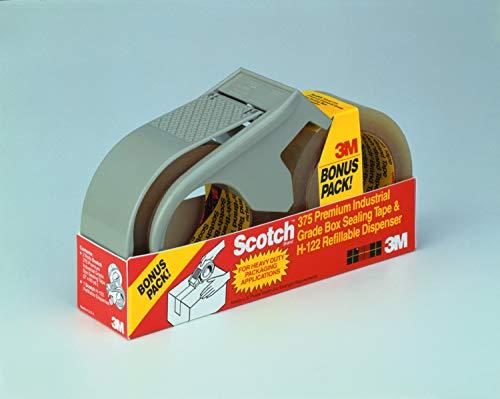 Scotch Box Sealing Tape with Dispenser PSD1, Clear, 48 mm X 50 m