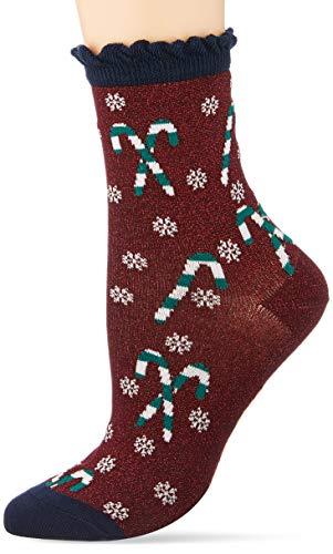 BURLINGTON Damen Socken Candyman, Baumwollmischung, 1 Paar, Rot (Mahogany 8344), Größe: 36-41
