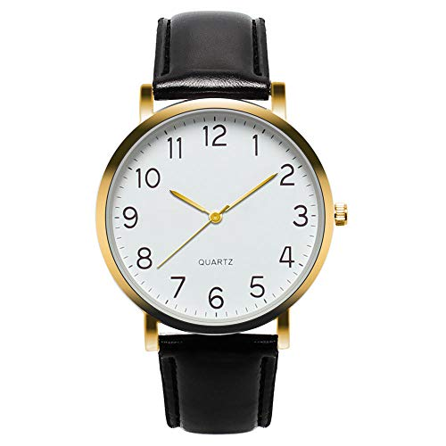 YXXERSHI Fashion herenhorloges, heren simpel Busines horloge, vintage kwarts watch-D
