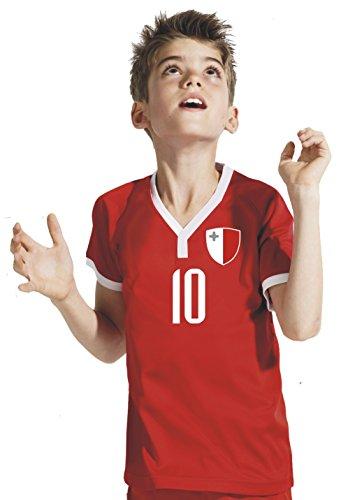 Aprom-Sports Malta Kinder Trikot - Hose Stutzen inkl. Druck Wunschname + Nr. RRR WM 2018 (116)