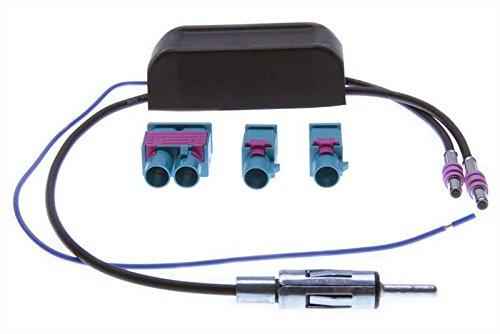 Diversity Funktion und Phantomeinspeisung, 3 x Fakra Gehäuse-> gerader DIN Stecker